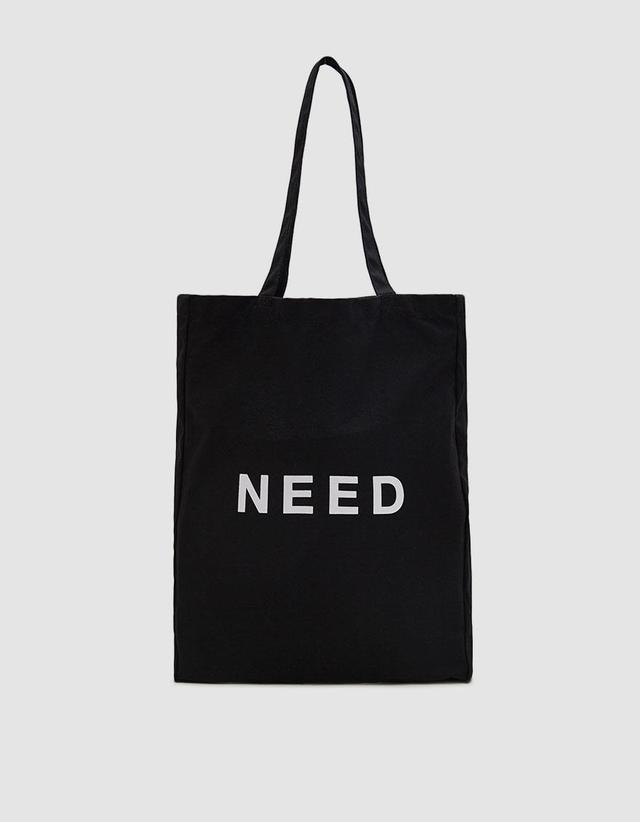 Need Need Tote Bag in Black
