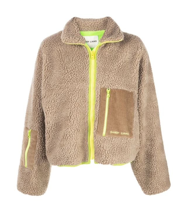 Sandy Liang Faux Shearling Jacket