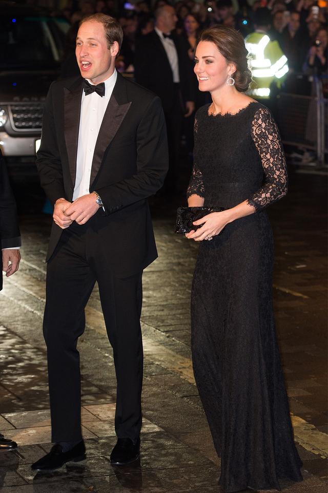 Kate Middleton black gown