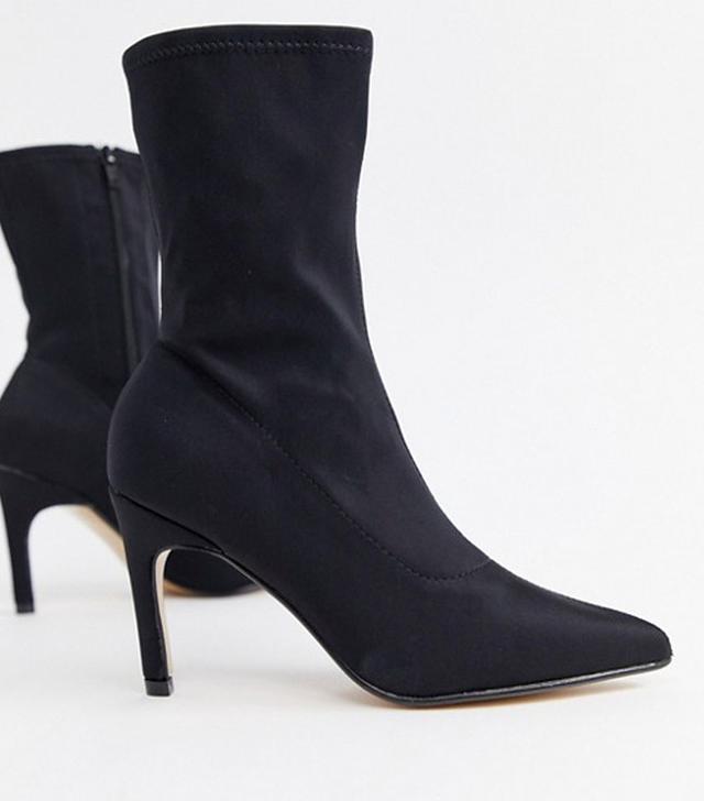 PrettyLittleThing Kitten Heel Sock Boots