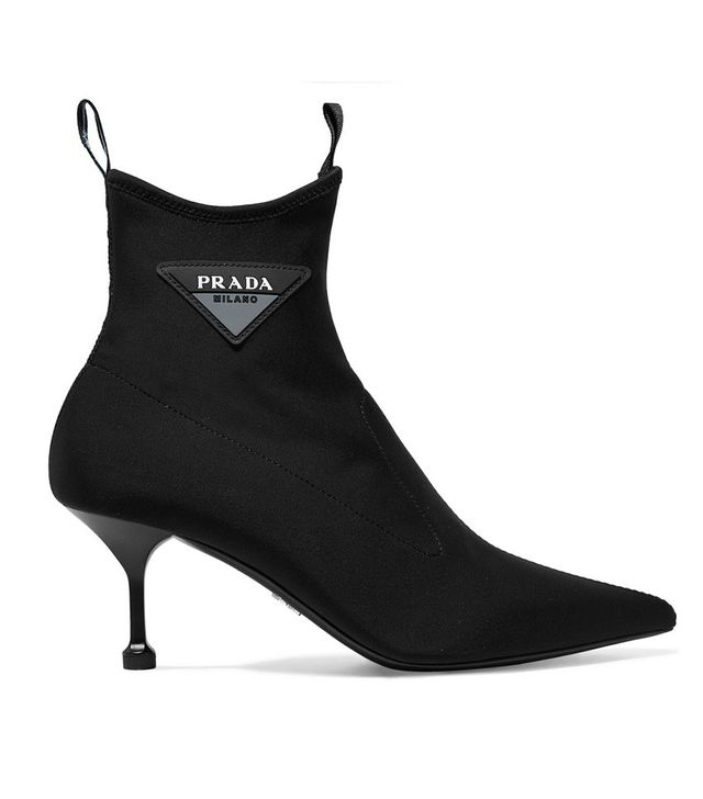 Prada Logo-Appliquéd Scuba Sock Boots