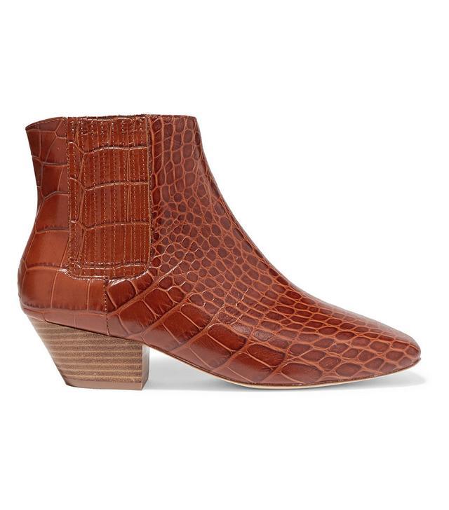 Nanushka Sals Croc-Effect Vegan Ankle Boots