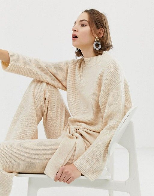 Mango Knitted Sweater & Pants Two-Piece
