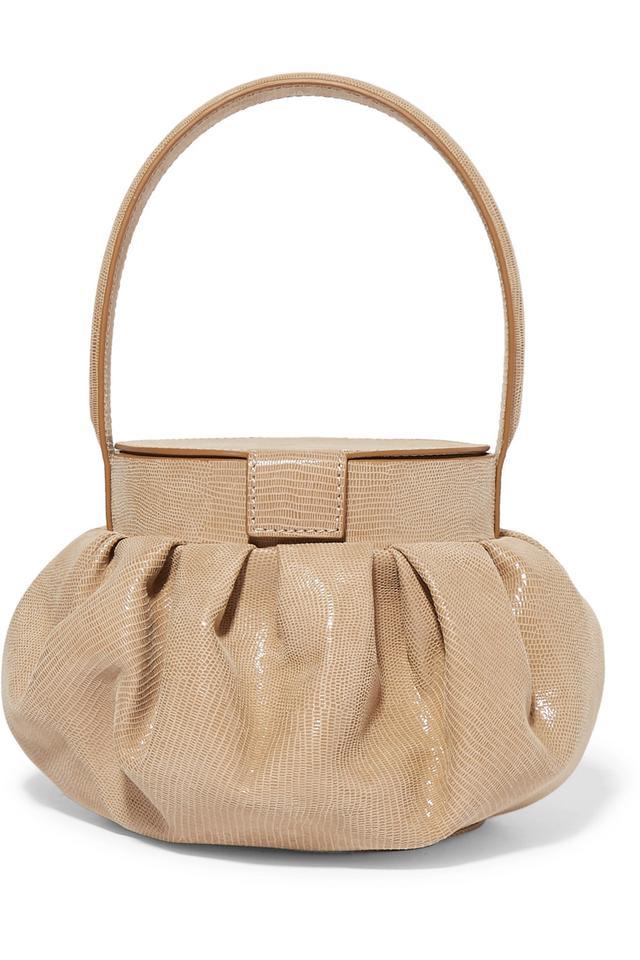 Rejina Pyo Agnes Lizard-Effect Leather Tote