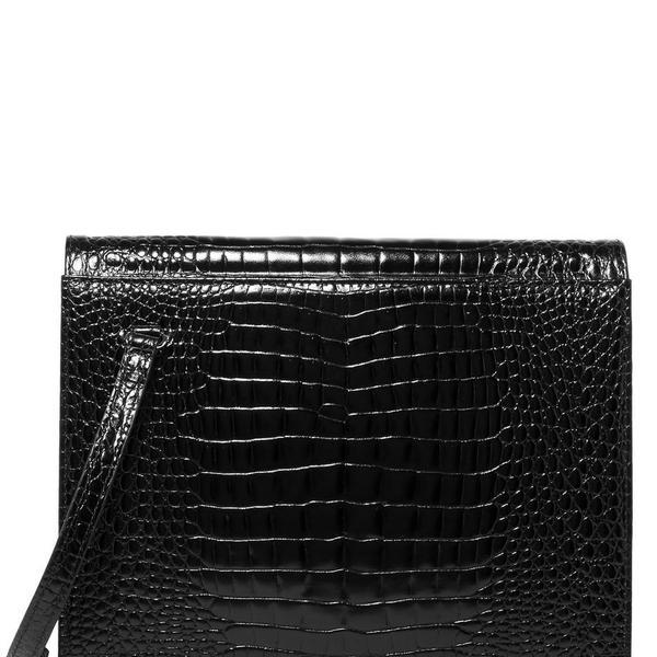 Gu de Edie Croc-Effect Leather Shoulder Bag