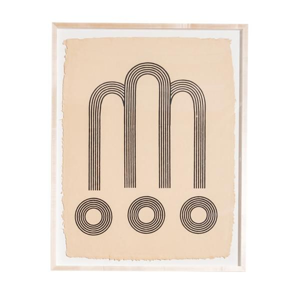 Blockshop Arches Woodblock Print
