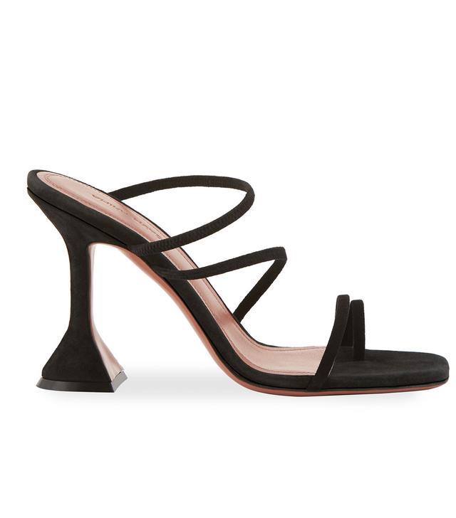 Amina Muaddi Naima Leather Slide Sandals