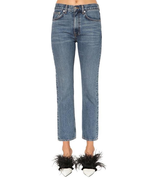 Brock Collection Slim Cotton Denim Jeans