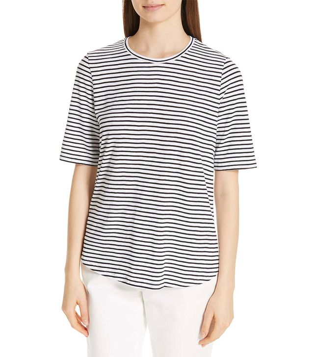 Eileen Fisher Striped Crewneck Tee