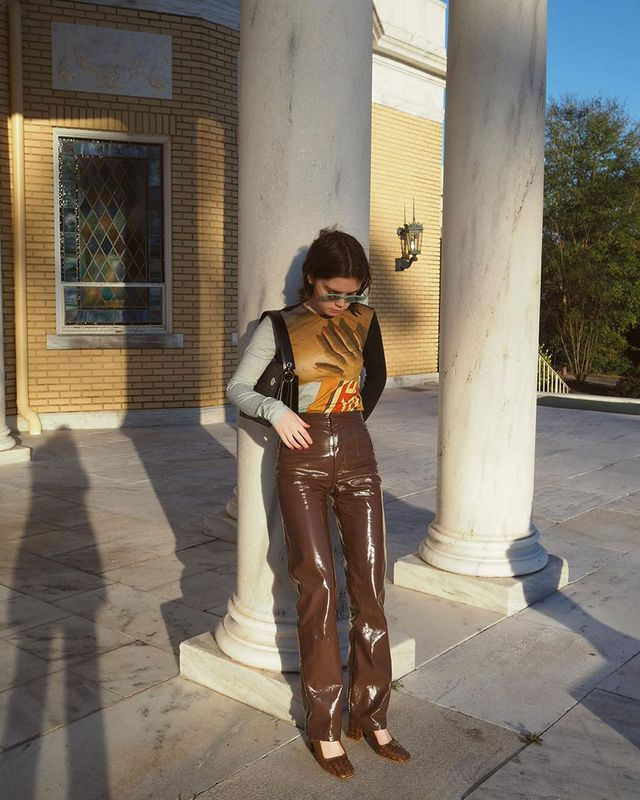 Going-Out Outfits: Leather Pants