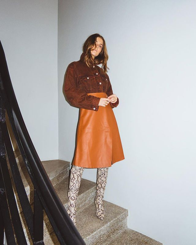 Going-Out Outfits: Leather Skirt
