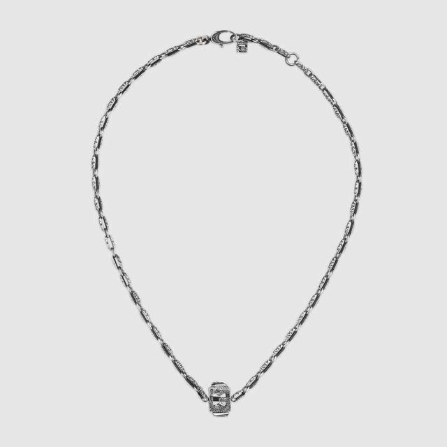 Gucci Necklace With Square G Cube in Silver