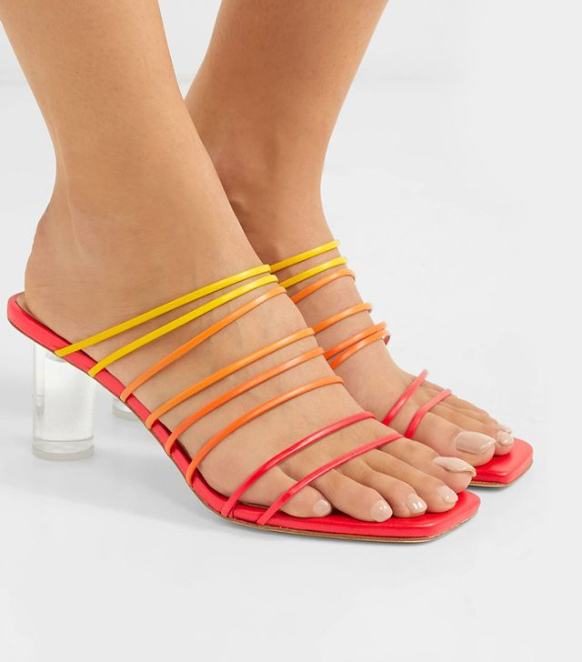 Rejina Pyo Zoe Perspex and Leather Sandals