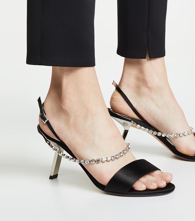 Alchimia di Ballin Satin Strass Sandals