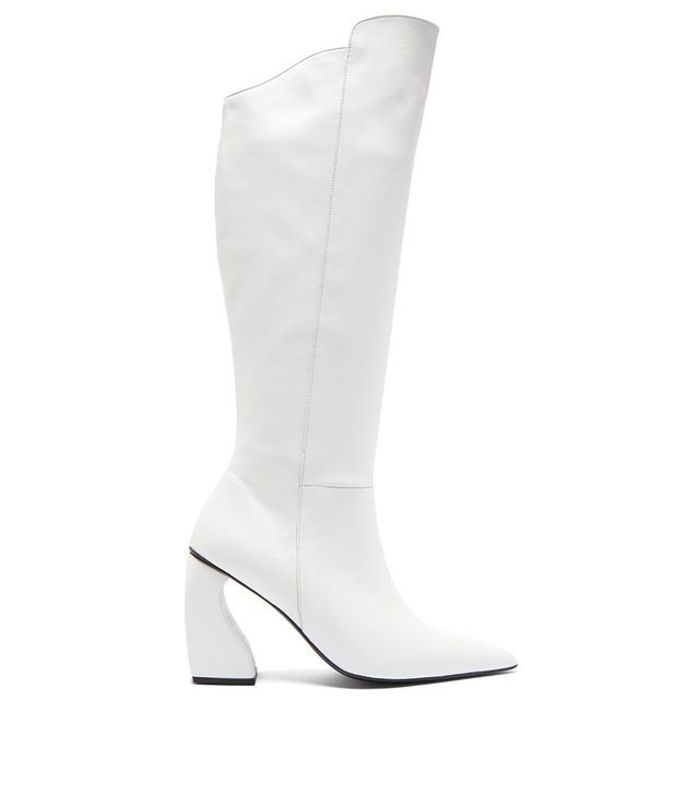 Marques'Almeida Point Toe Leather Knee High Boots