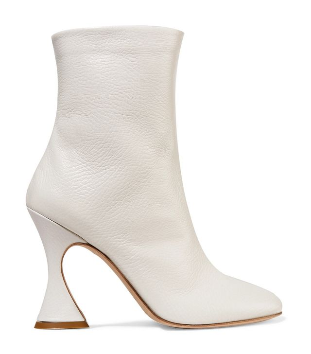 Sies Marjan Emma Textured-Leather Ankle Boots