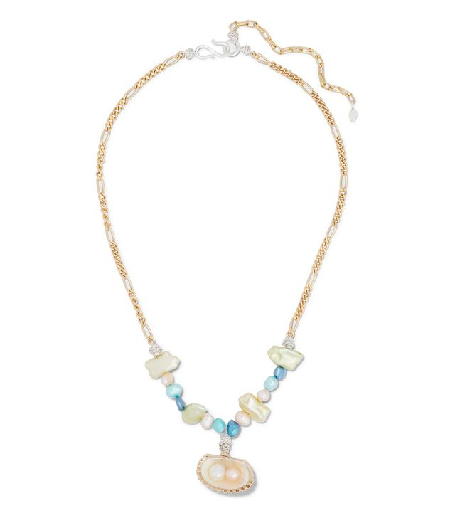 Wald Berlin Lady Marmalade Gold-Plated, Shell and Pearl Necklace