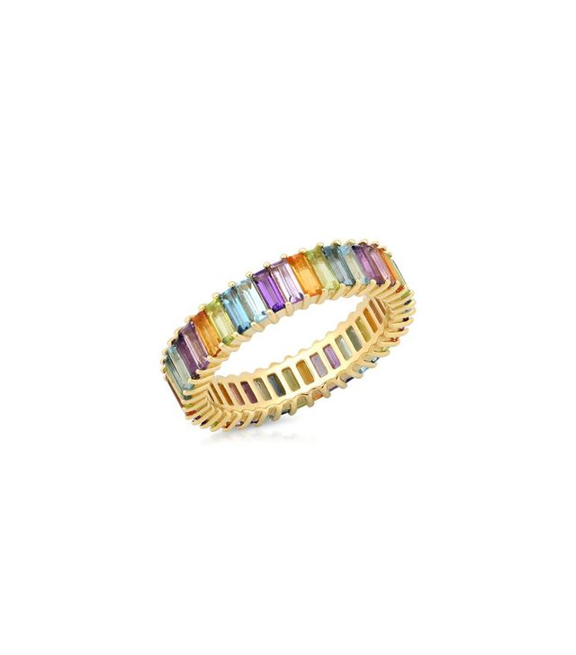 Eriness Multicolored Pastel Baguette Ring