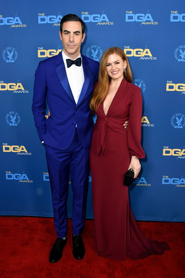 Isla Fisher and Sacha Baron Cohen at the 2019 Director's Guild Awards
