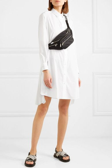 Sacai Organza-Paneled Poplin Shirt Dress