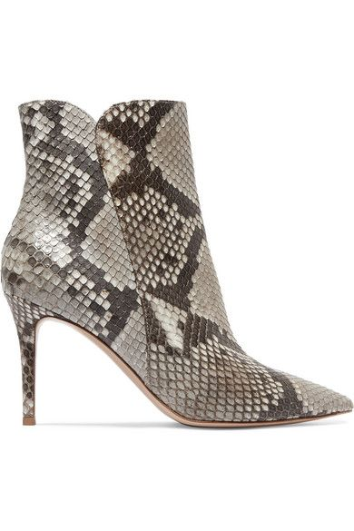 Gianvito Rossi Levy 85 Python Ankle Boots