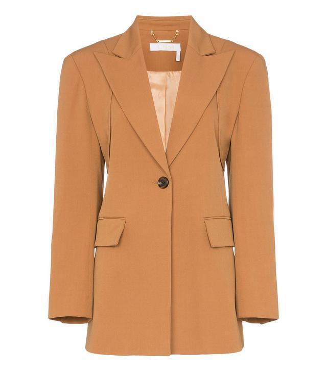 Chloé Single-Breasted Wool Blend Blazer