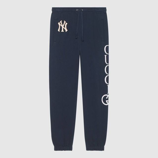 Gucci Men's Jogging Pant with NY Yankees Patch Blue