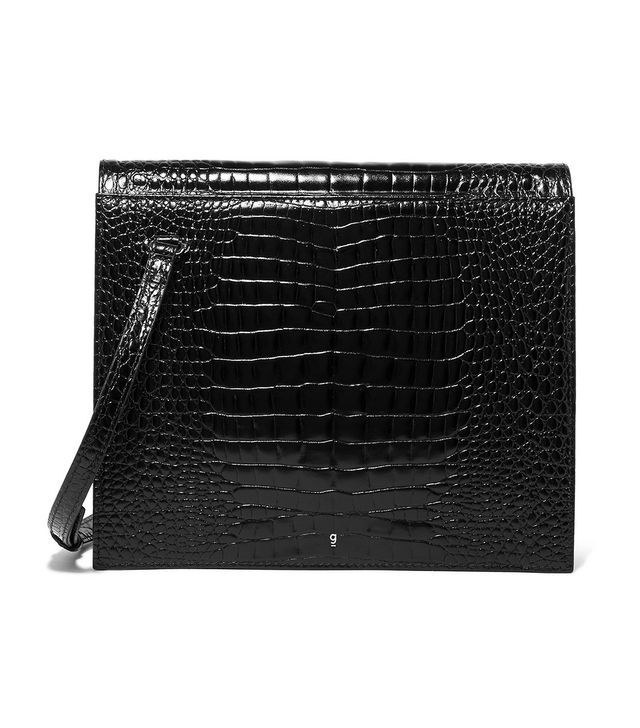 Gu_de Edie Croc-Effect Leather Shoulder Bag