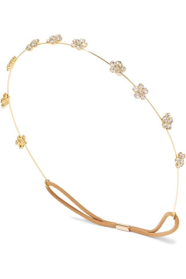 Jennifer Behr Viv Gold-tone Crystal Headband