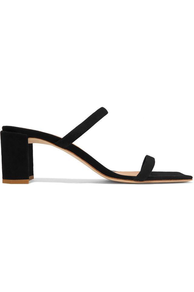 By Far Tanya suede mules