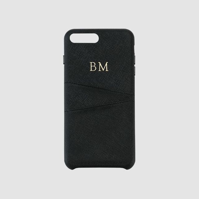 The Daily Edited Black Saffiano Wrap iPhone 7/8 Plus Case