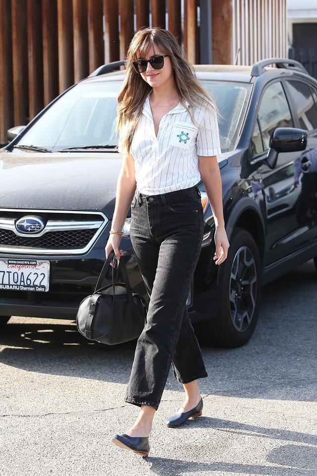 Dakota Johnson Shoe Capsule Wardrobe: Flats