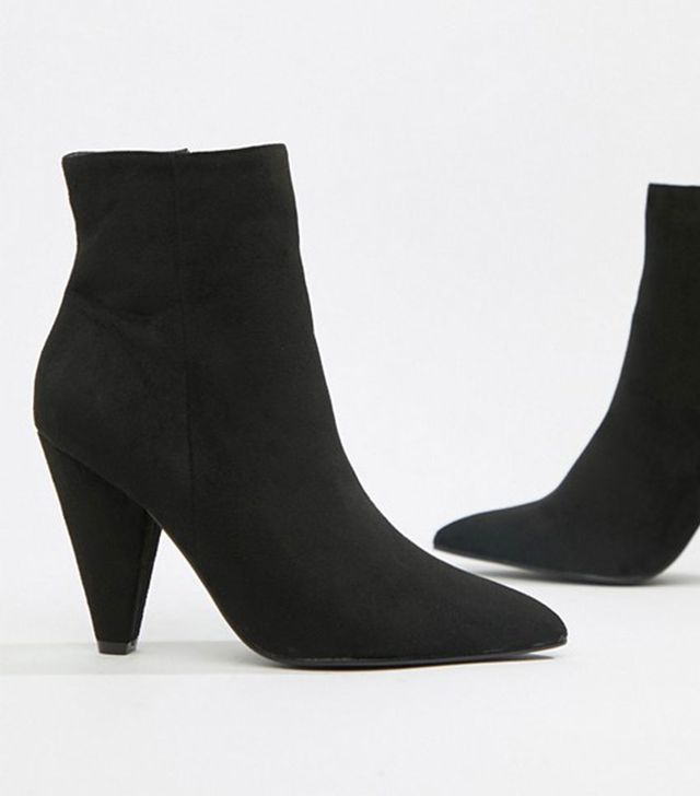 Glamorous Black Ankle Boots