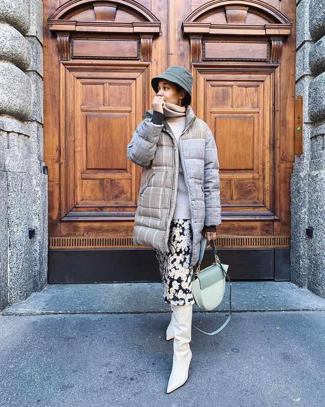 Knee-High Boot Outfits: Puffer Coat