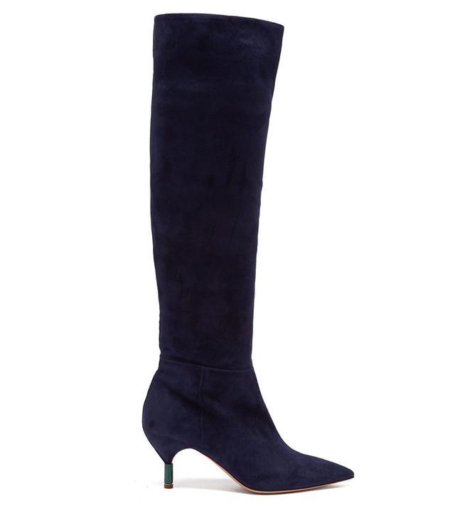 Gabriela Hearst Gonzalez Suede Knee-High Boots