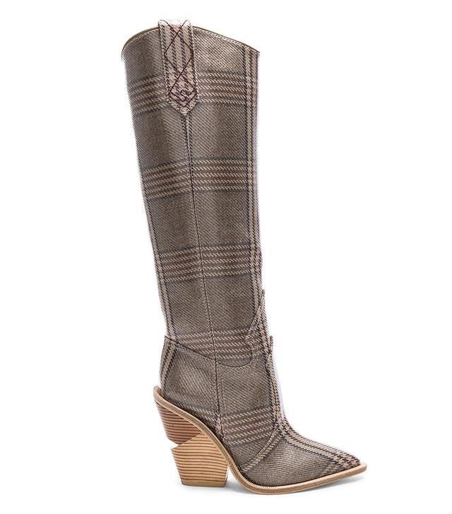 Fendi Cutwalk Check Knee-High Boots