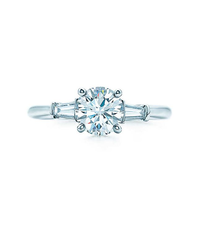 Tiffany and Co. tapered baguette engagement ring