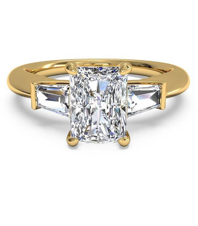 Ritani Tapered Baguette Diamond Engagement Ring