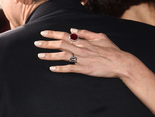 Amal Clooney tapered baguette engagement ring