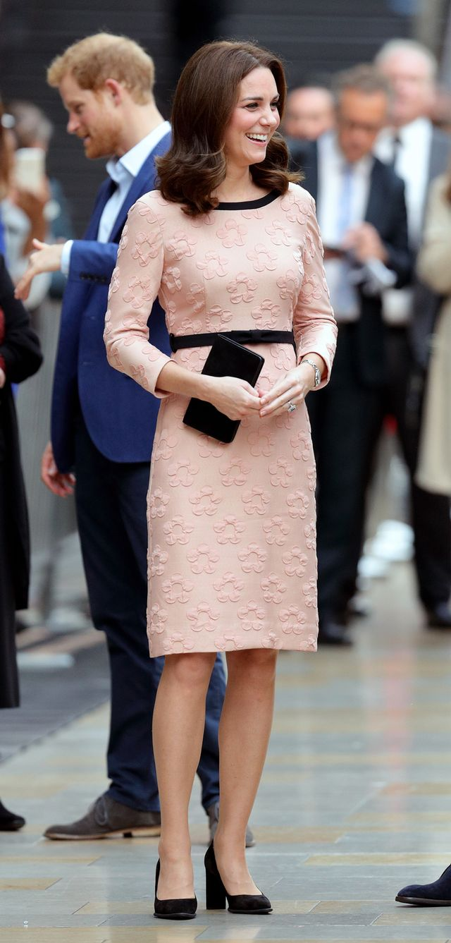 Kate Middleton at a train station