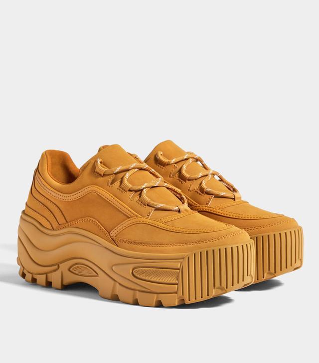 Bershka Monochrome Platform Sneakers