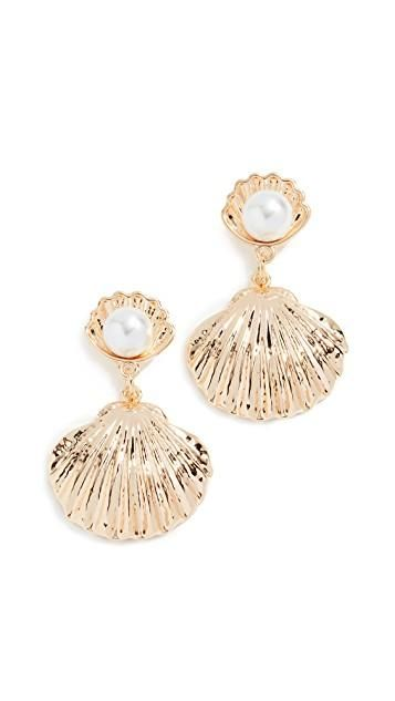 Reliquia Seashell Imitation Pearl Earrings