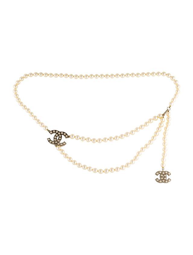 Chanel Pearl CC Multi-Strand Belt