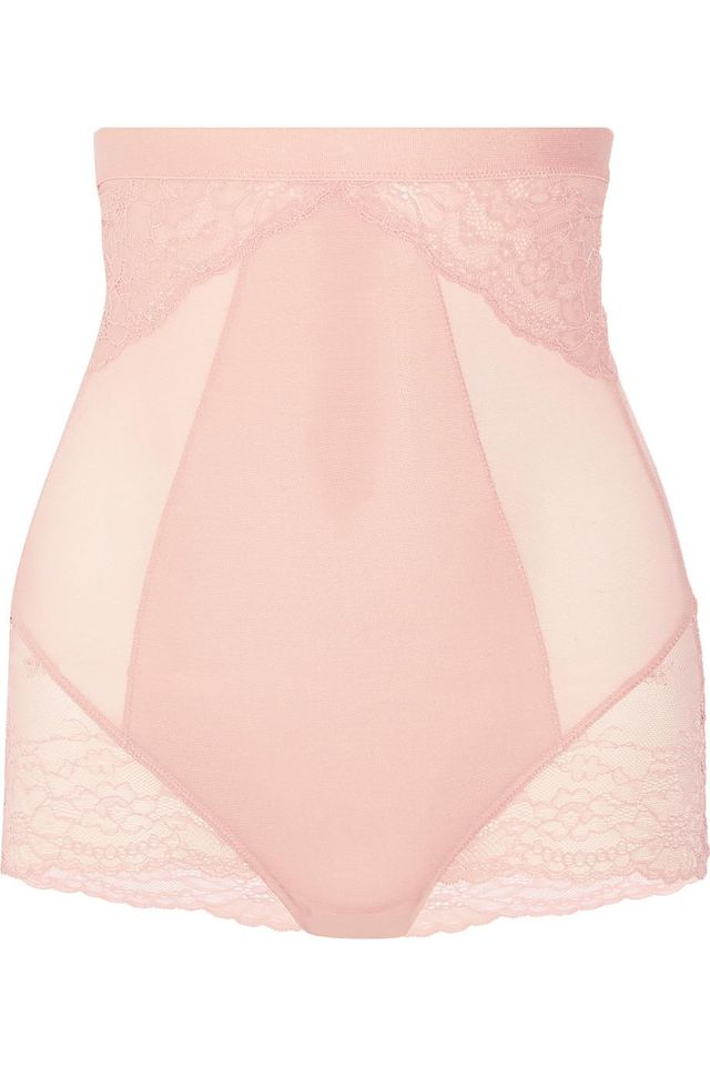 Spanx Spotlight Stretch-Tulle And Lace High-Rise Briefs