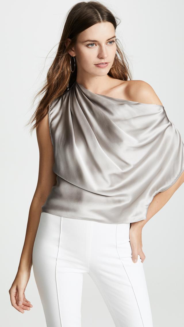 Michelle Mason Asymmetrical Drape Top