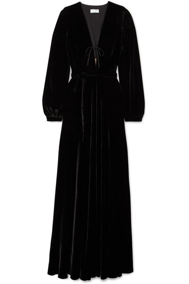 Raquel Diniz Geena Tulle-Trimmed Silk-Velvet Gown