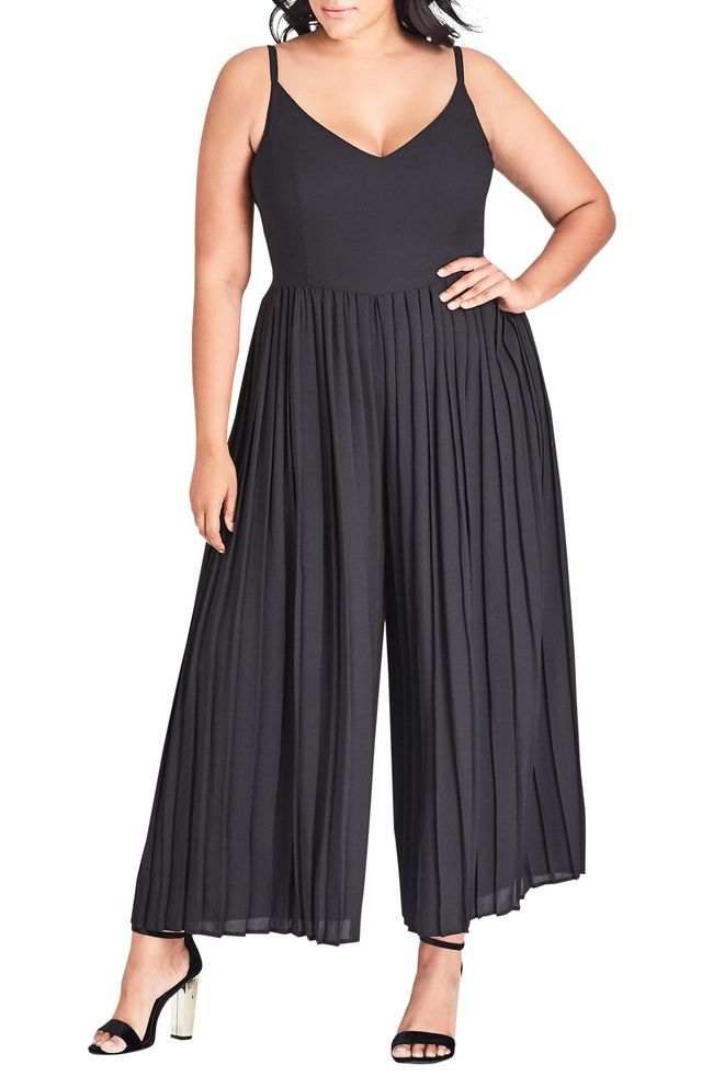 City Chic Flirty Leg Jumpsuit