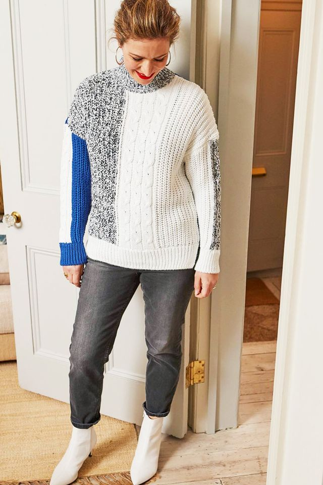 Marks and Spencer shopping tips: Rachel in jumper and jeans
