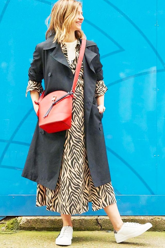 Marks and Spencer shopping tips: Rachel in animal print dress