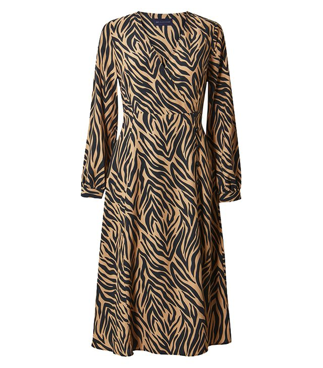 Marks & Spencer Petite Animal Print Wrap Midi Dress